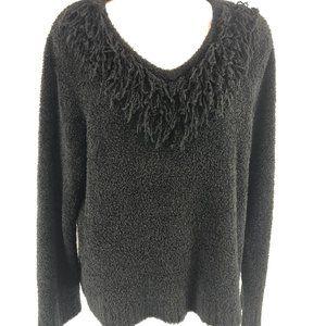 JM Collection Black Sweater Soft Warm Cozy XL